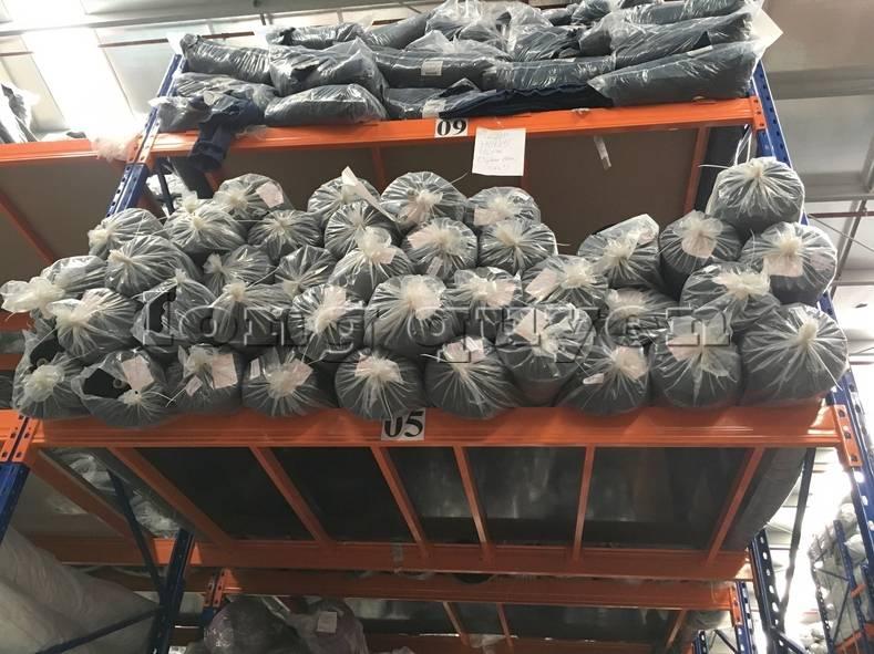 Kệ sắt kệ pallet kho hàng nguyên liệu may mặc vải cuộn công ty May Hà Bắc (8)