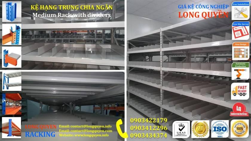 Giá kệ trung tải kệ hạng trung chia ngăn kho hàng công ty Thìn Oai (2)