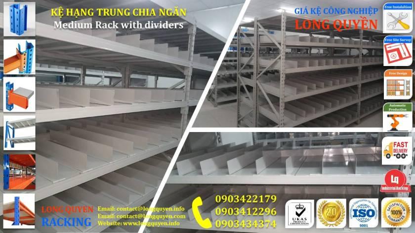 Giá kệ trung tải kệ hạng trung chia ngăn kho hàng công ty Thìn Oai (3)