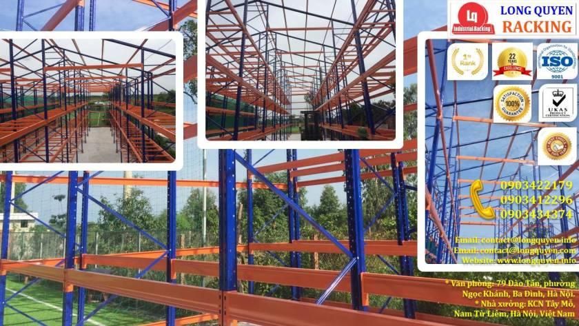 Xây dựng kho chứa hàng, khung dầm nhà bằng giá kệ sắt tại cty Âu Lạc (12)
