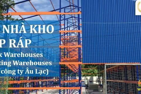 Xây dựng kho chứa hàng, khung dầm nhà bằng giá kệ sắt tại cty Âu Lạc heading_