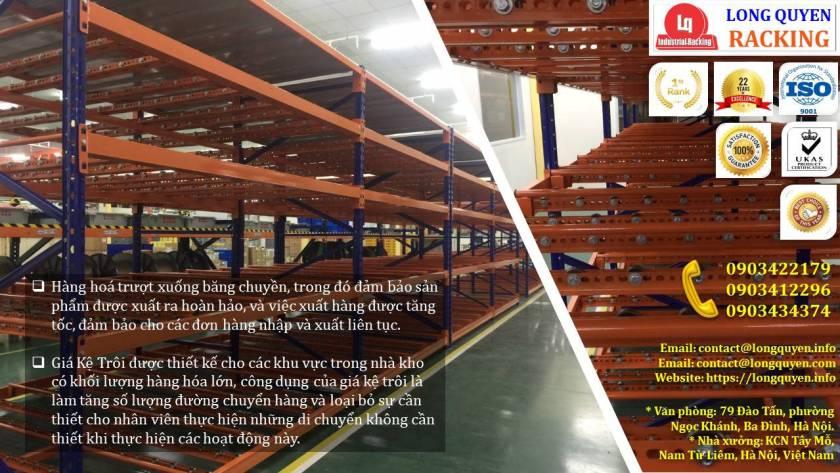 Giá kệ con lăn dòng chảy giá kệ trôi lắp đặt tại công ty Sumi Việt Nhật (8)