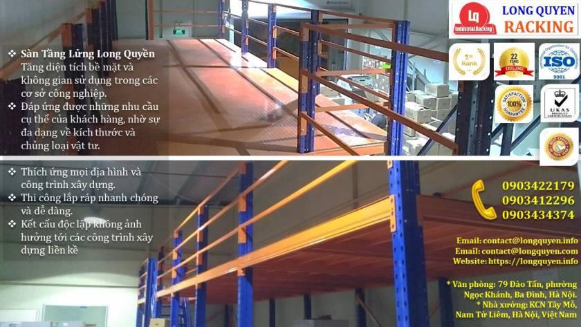 Kệ sàn kho sàn tầng lửng mezzanine san kho lắp ráp công ty Vina TC (3)