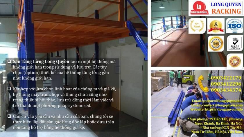 Kệ sàn kho sàn tầng lửng mezzanine san kho lắp ráp công ty Vina TC (4)