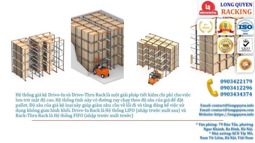 Kệ Drive-In Kệ Kho Hàng Kệ Để Hàng Lắp Đặt tại Công ty Khánh Toàn (2)