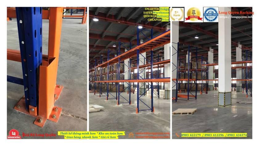 Kệ selective kệ sắt pallet lắp đặt tại kho hàng công ty An Phát (5)