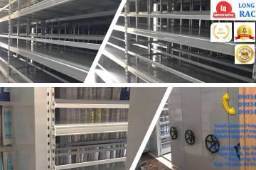 Kệ ray trượt 6 tầng kệ trượt kéo đa năng lắp tại Cty CPTM Gia Lâm (1)