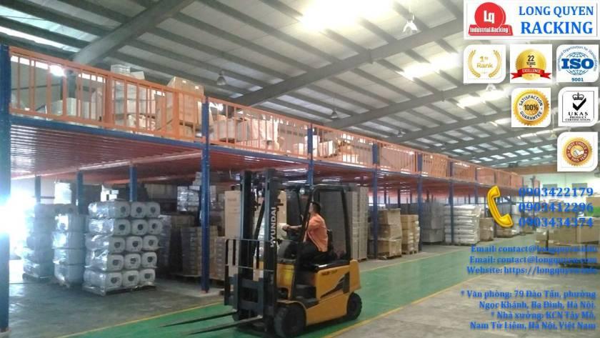 Tầng lửng gác xép sàn mezzanine công nghiệp công ty Ferroli (12)
