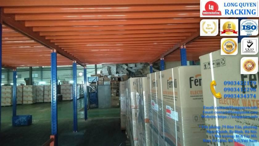 Tầng lửng gác xép sàn mezzanine công nghiệp công ty Ferroli (9)