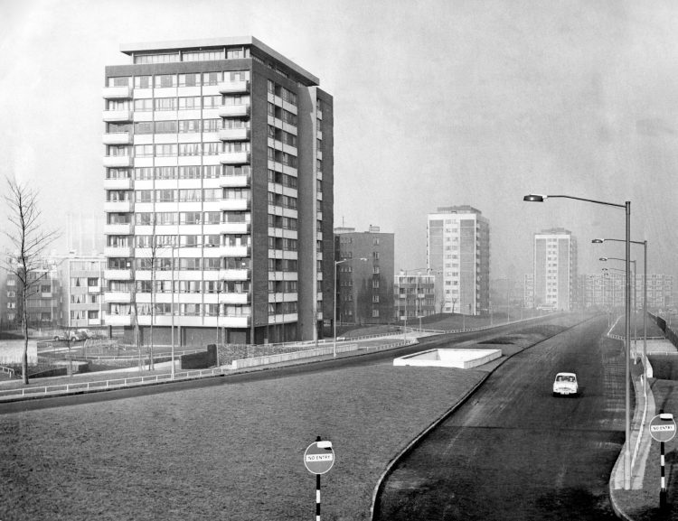 Recently completed second stage of the Nechells Green Parkway. Nechells, Birmingham.25January, 1965. Mirrorpix