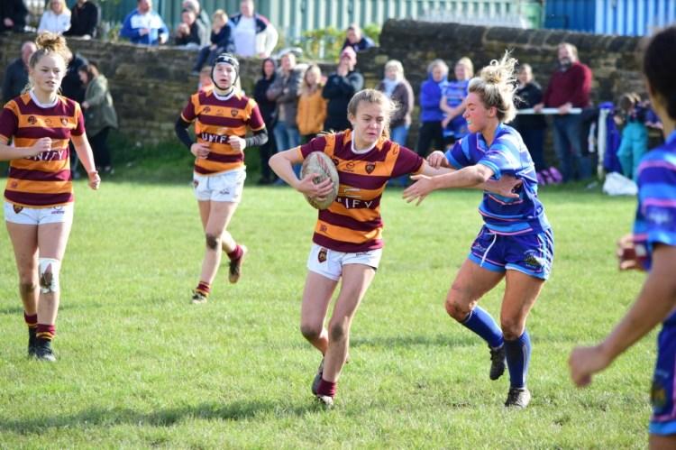 The Dewsbury Moor ARLFC girls team