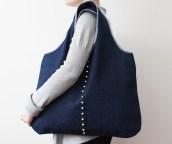 handmade bag, szycie na maszynie, torba handmade, ćwieki, sewing