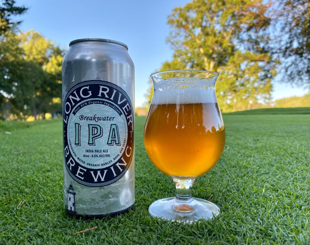 Long River Organic Brewing -Breakwater IPA in glass