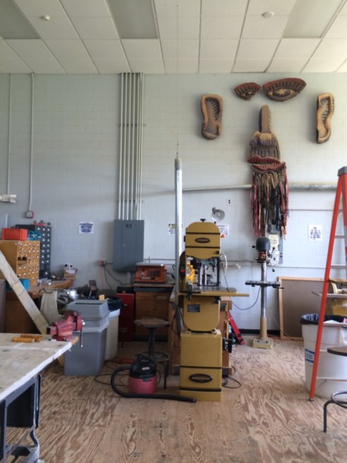 Workshop in the puppet lab.