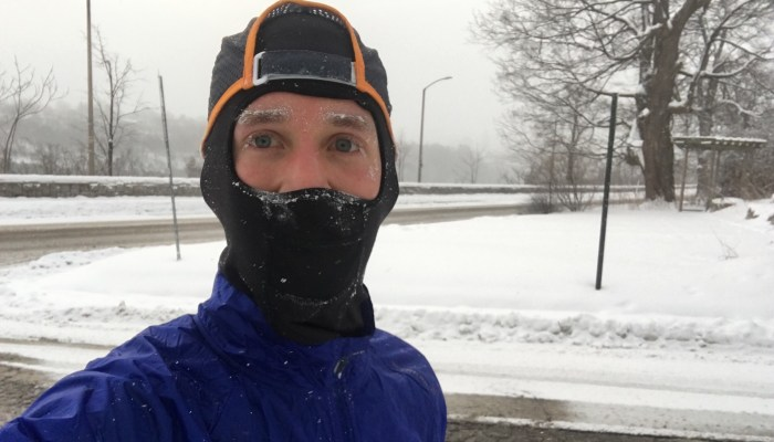 Running in frigid cold, wind, and ice — no excuses and no complaints