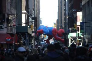 A la Macy's Parade, on a vu Spiderman et puis on est partis