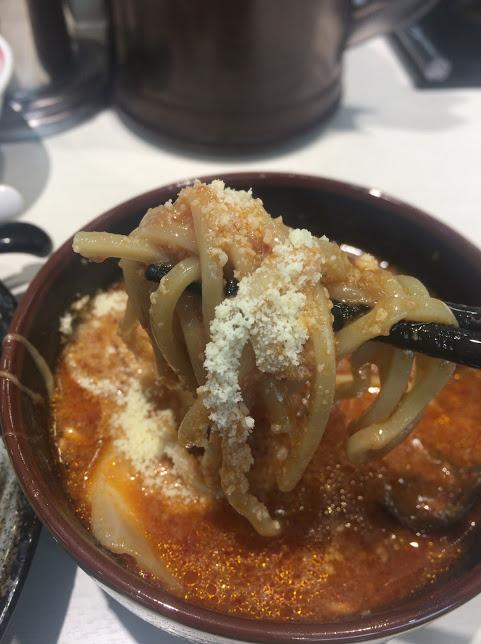 川越の中本で濃厚トマトつけ麺14