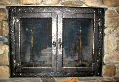 Modern Glass Fireplace Doors