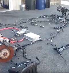 rich rebuilds and tesla u0027s opinion on the right to repair the longwiring harness and [ 1215 x 728 Pixel ]