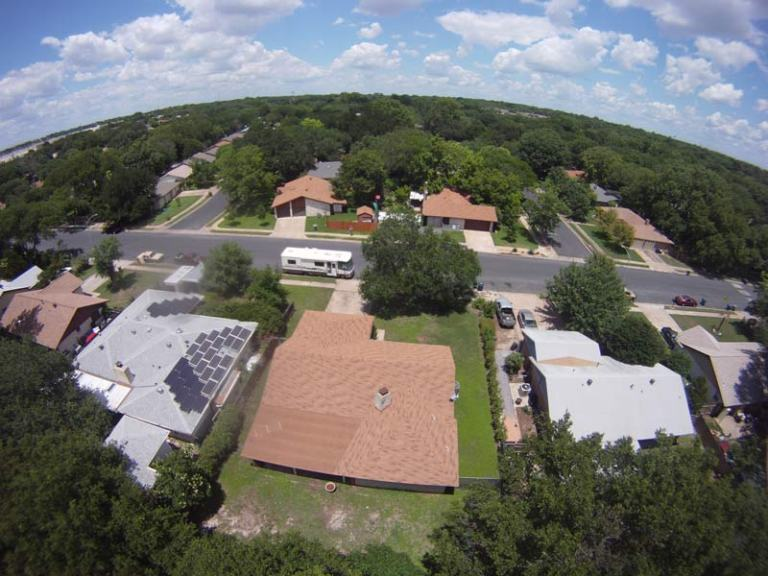 Another aerial pic from our DJI drone - our RV at Michelle's house