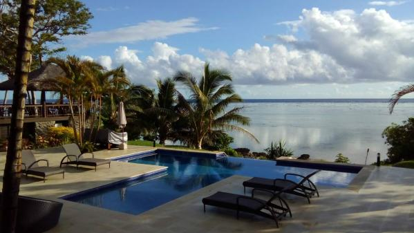 The beautiful pool we looked after at Serenity Point, Fiji