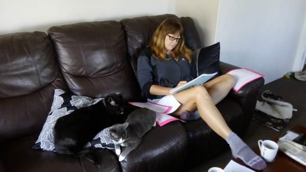Spanner and Hetfield organise the papers while Vanessa works