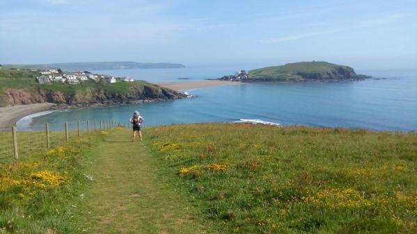 Vanessa enjoys the view across to Burgh Island, Devon