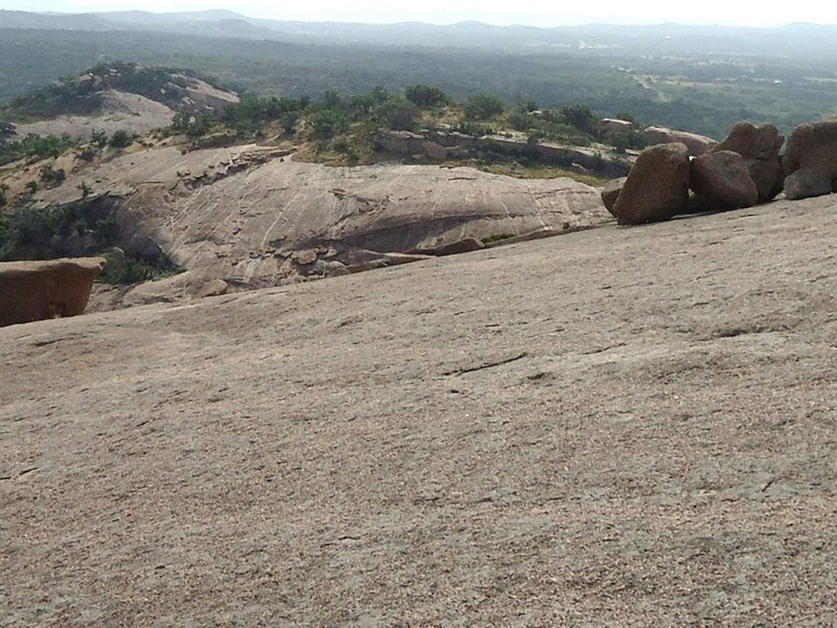 The view from Enchanted Rock