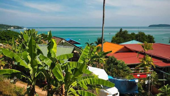The view from our lovely Book Store Cafe Airbnb rental, Ao Yon, Phuket, Thailand