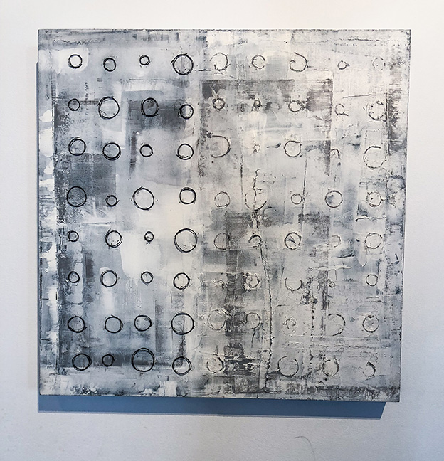 "Untitled #7 (large panels), 24 x 24"", mixed media on panel"
