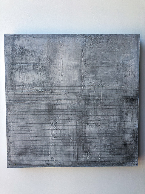 "Untitled #12 (large panels), 24 x 24"", mixed media on panel"
