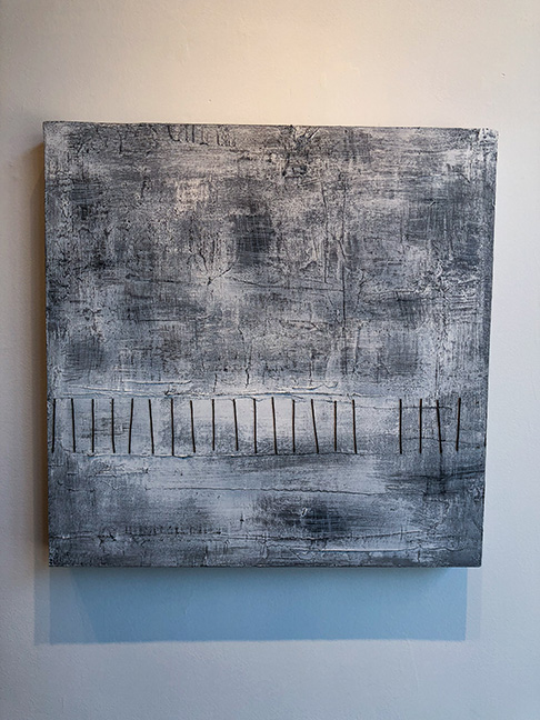 "Untitled #11 (large panels), 24 x 24"", mixed media on panel"