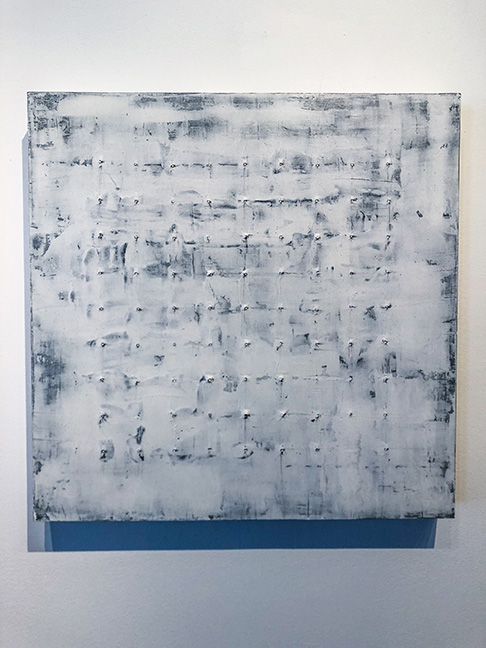 "Untitled #2 (large panels), 24 x 24"", mixed media on panel,"