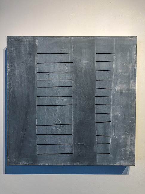 "Untitled #1 (large panels), 24 x 24"", mixed media on panel,"