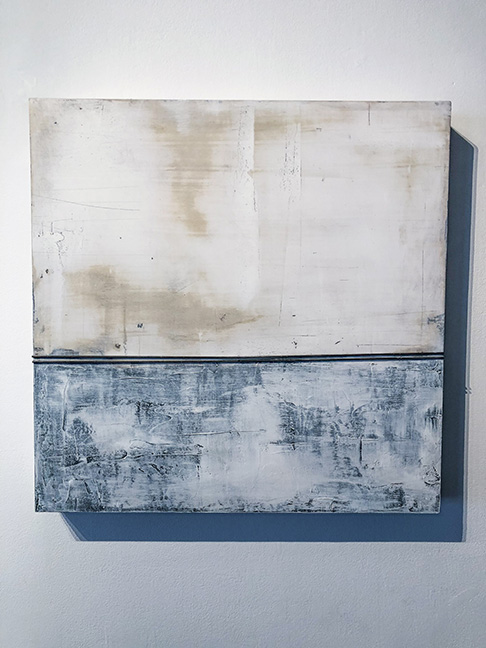"Untitled #5 (large panels), 24 x 24"", mixed media on panel,"