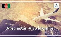 Afganistan Vize Şartları