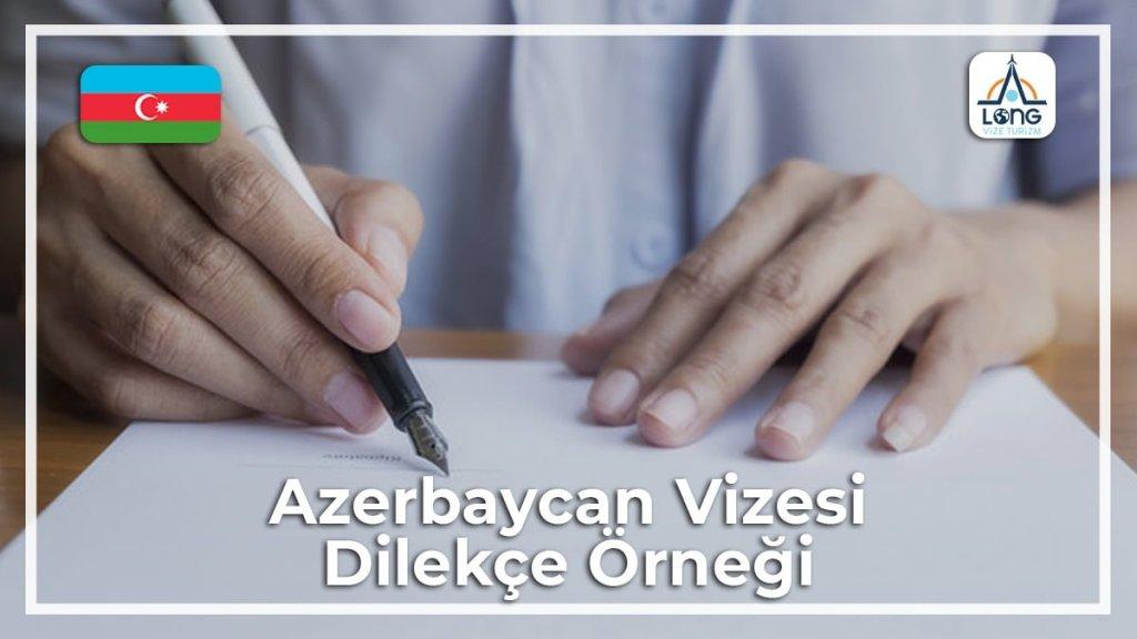 Dilekçe Örneği Vizesi Azerbaycan