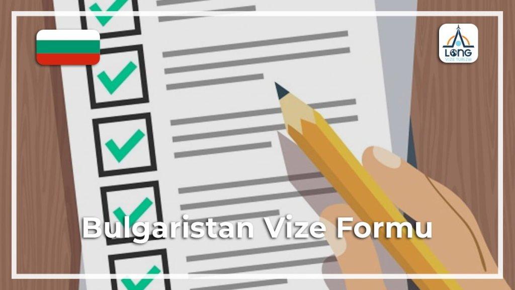 Formu Vize Bulgaristan