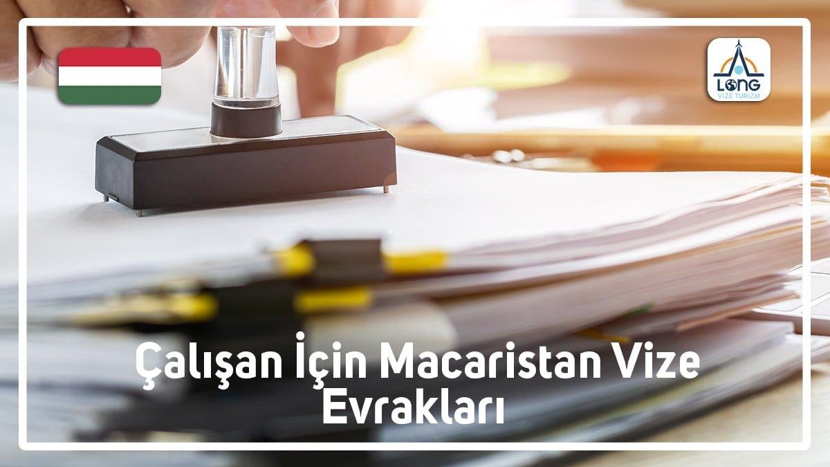 Macaristan Vizesi Çalısan Evrakları