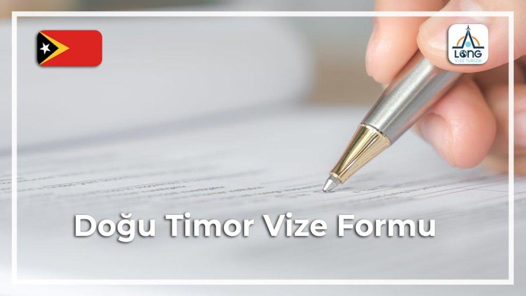 Vize Formu Doğu Timor