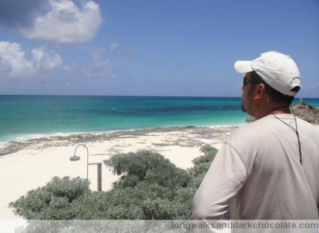 My husband at Guana Cay, Abacos