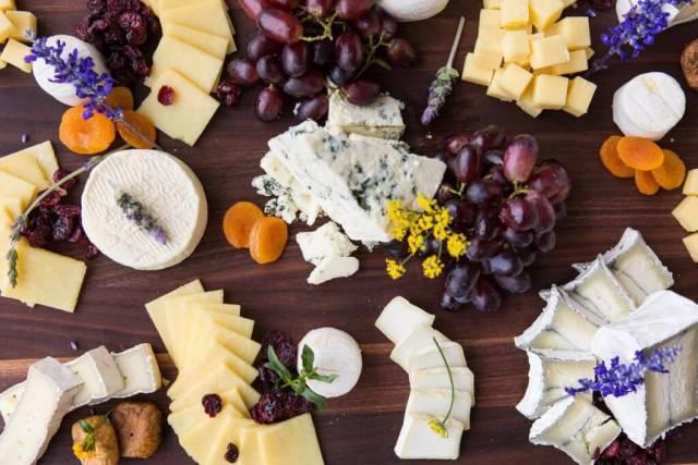 Farm house cheese display by Longwood Culinary Arts