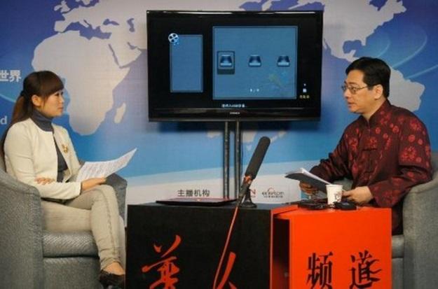 陈巃羽老师接受大陆央视华人频道专访