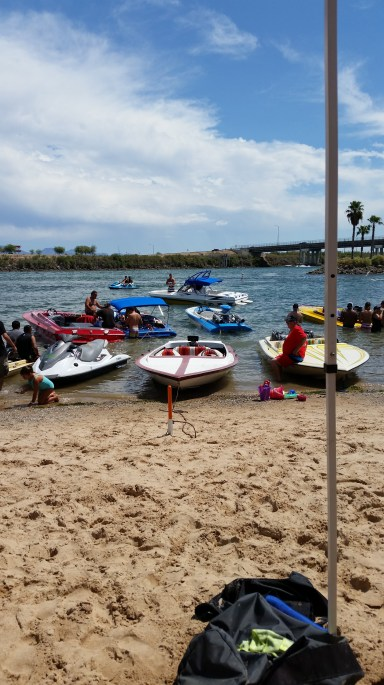Our boat in the middle! We are at Laughlin