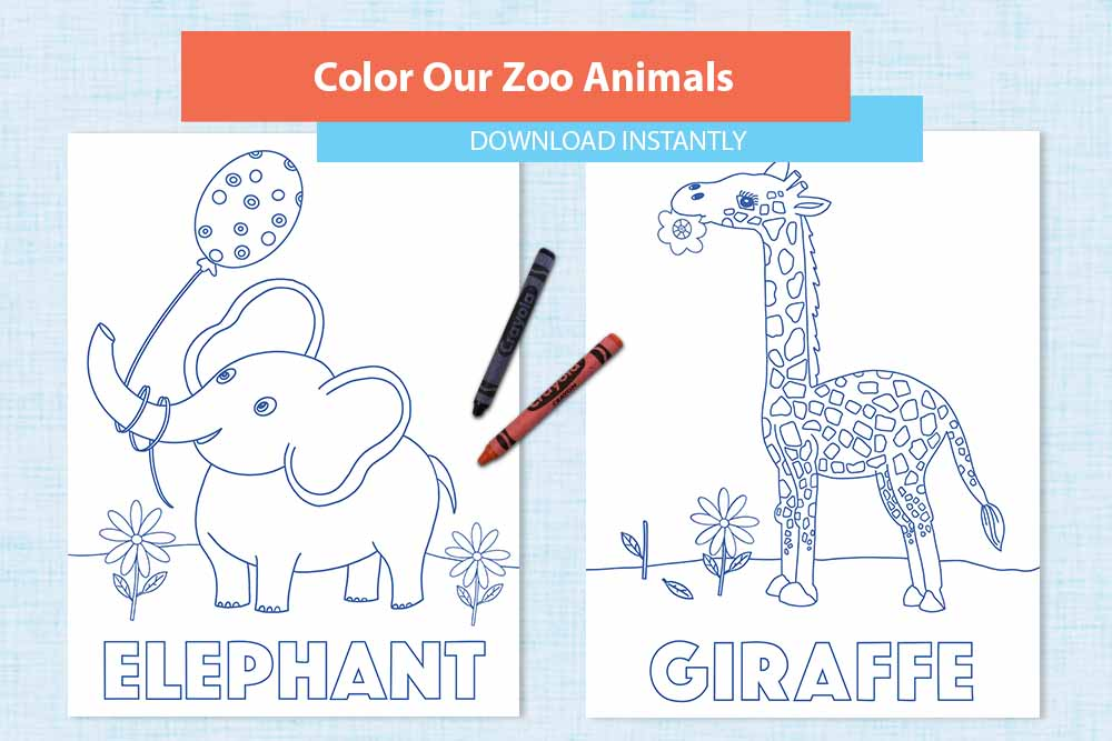 - Zoo Animals Coloring Pages - Lonna Jordan Designs