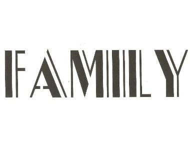 Family Word Stencil