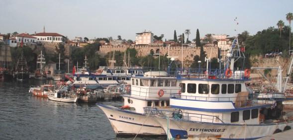 Boats in Marina below Castle Walls