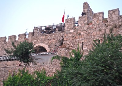Old Castle Walls with Restaurant