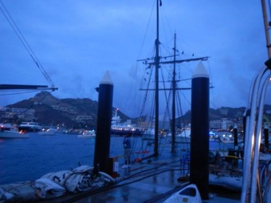 Sunken sailing ship.