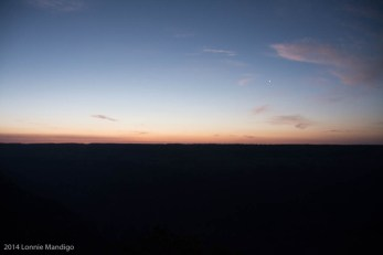 Pre-dawn over the Grand Canyon